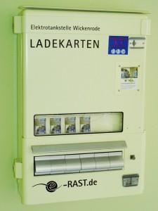 Der E-Rast Ladekartenautomat